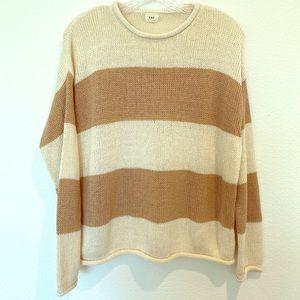 Super Soft striped crop sweater size Medium